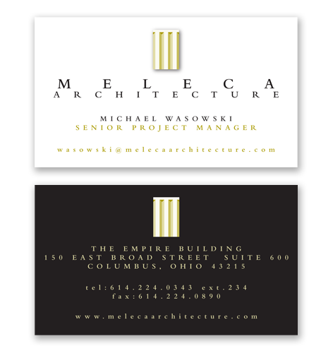 architects business card design