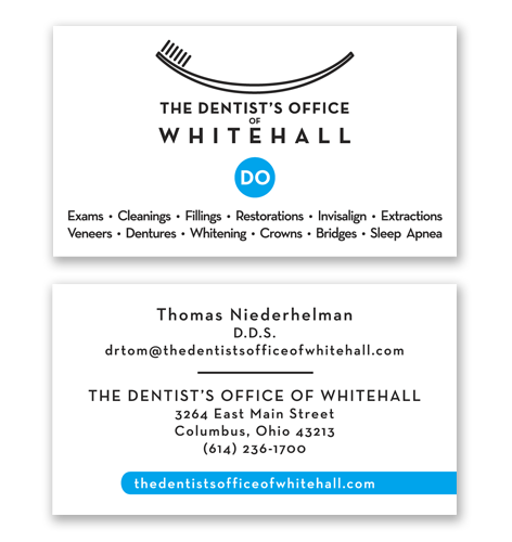 business cards for dentist