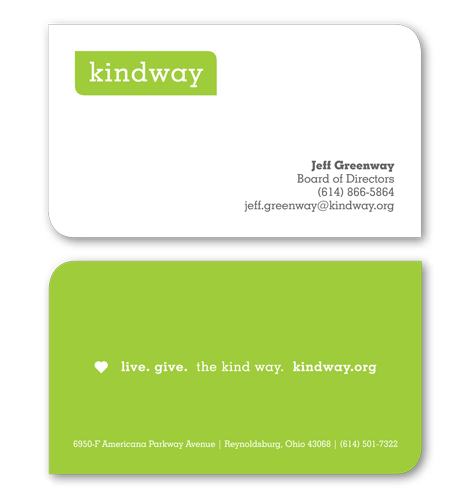 charity business card design